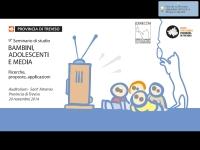 """9° seminario di studio """"Bambini, Adolescenti e Media - Ricerche, proposte, applicazioni"""""""