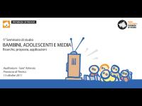 6° seminario di studio Bambini, Adolescenti e Media - Ricerche, proposte, applicazioni