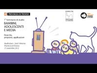 """7° seminario di studio """"Bambini, Adolescenti e Media"""""""
